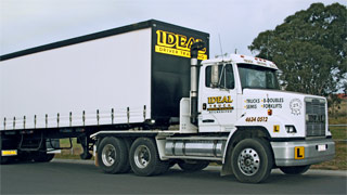 Heavy vehical at Ideal Driving School