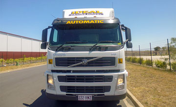 Heavy Rigid Automatic truck licence training vehical at Ideal Driving School