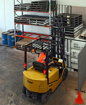 Forklift driver training at Ideal Driving School, Toowoomba