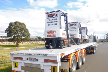 Forklift vehicles for driver training at Ideal Driving School, Toowoomba