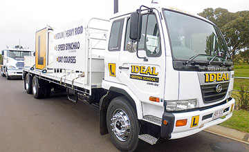 Heavy Rigid Synchro truck licence training vehical at Ideal Driving School