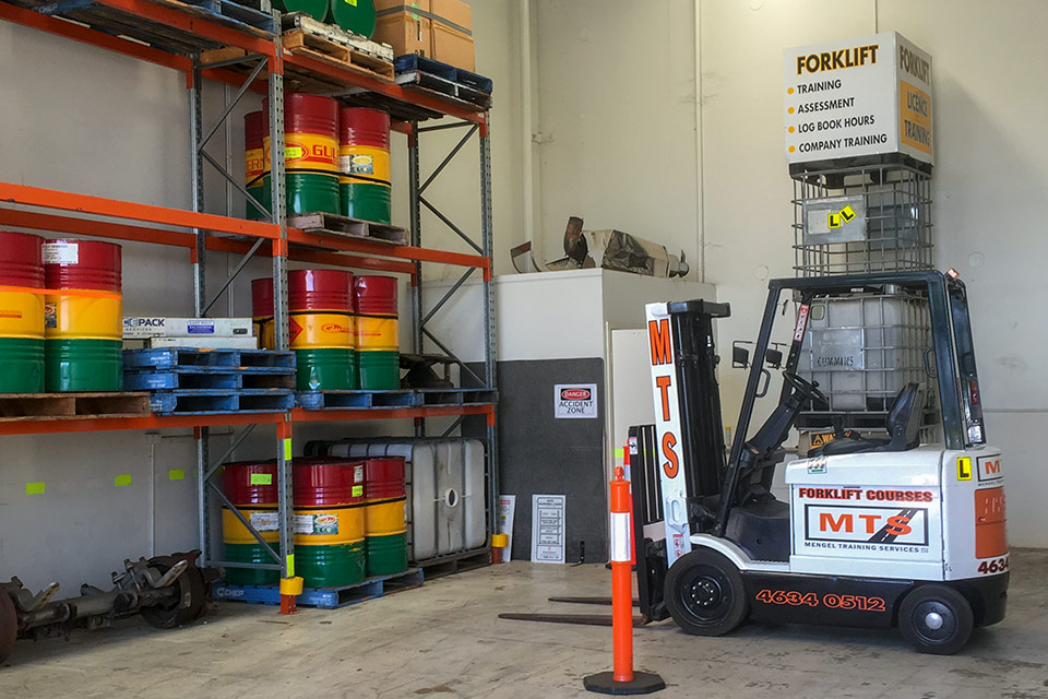 Forklift driver training vehicles at Ideal Driving School, Toowoomba