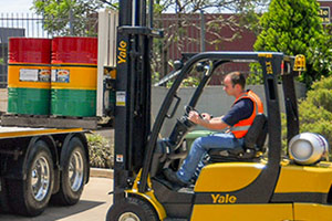 Ideal Driving School forklift training vehicle