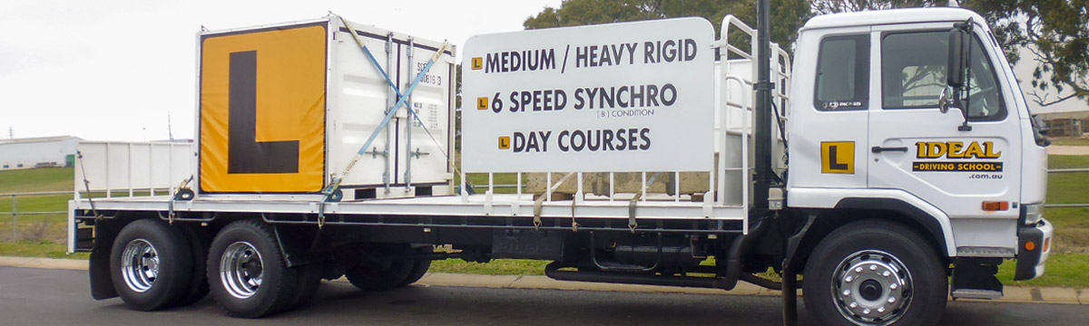 Heavy-Rigid truck with 6-speed synchromesh gearbox for driver training at Ideal Driving School, Toowoomba