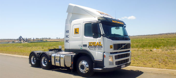 Heavy-Rigid truck with automatic gearbox for driver training at Ideal Driving School, Toowoomba